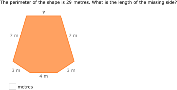 how to find the missing side length of a rectangle